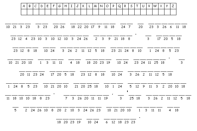 simple cryptogram